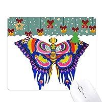 伝統的な中国の凧蝶のパターン ゲーム用スライドゴムのマウスパッドクリスマス