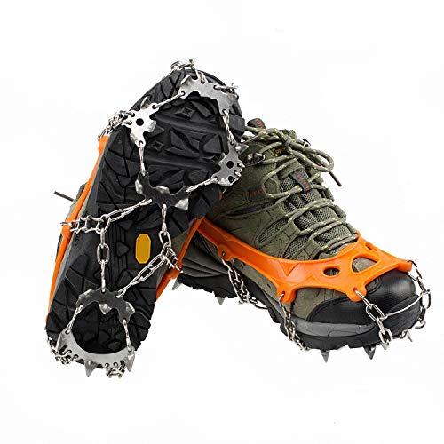LANDWIND Anti Rutsch Steigeisen, Mangan StahlSpitzen, Traktions-Cleats, Greifer für Klettern, Wandern Bergsteigen Schnee/Ski Stiefel Schuhe