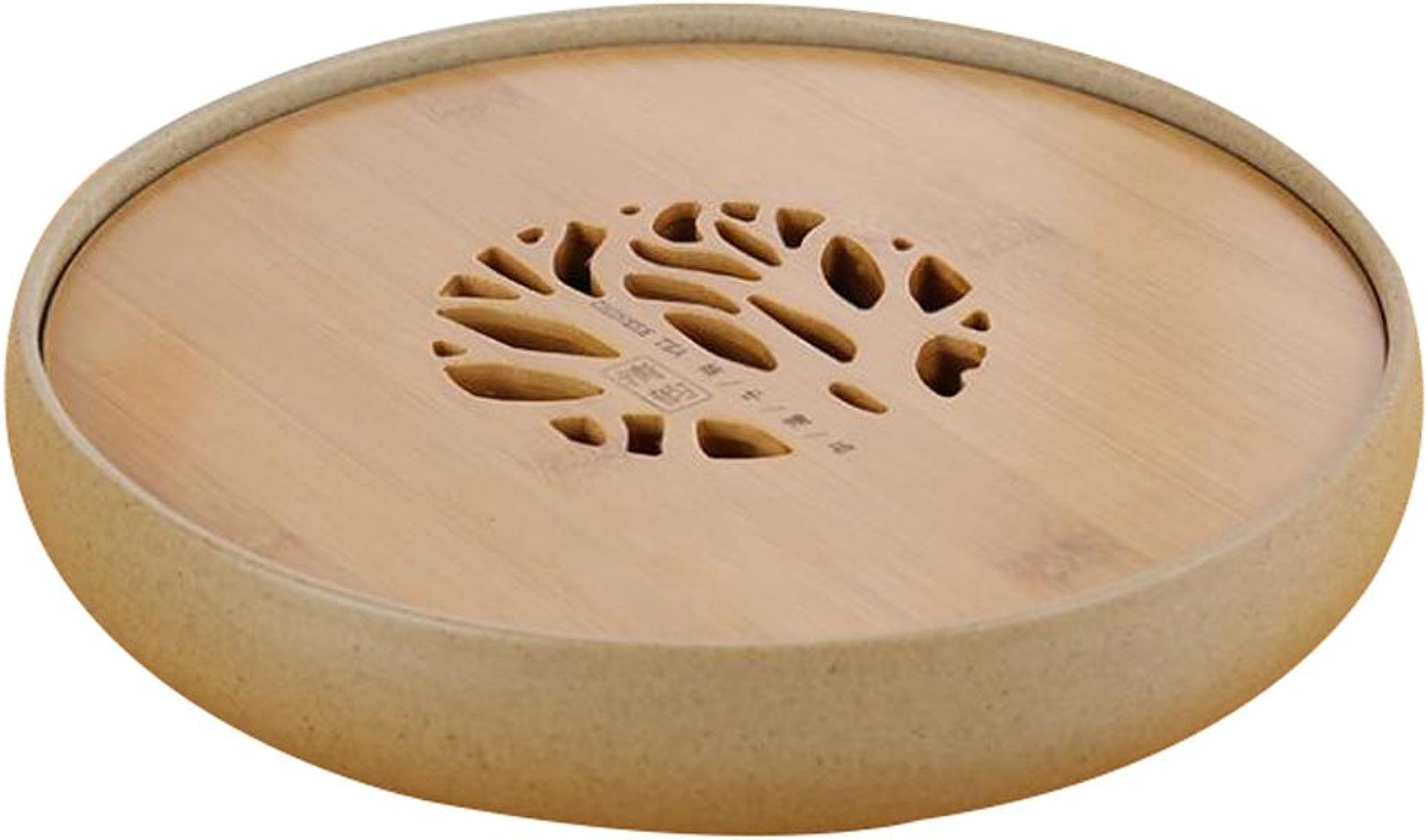 noir Temptation Bac à Servir en céramique pour Table de thé au Style Gongfu