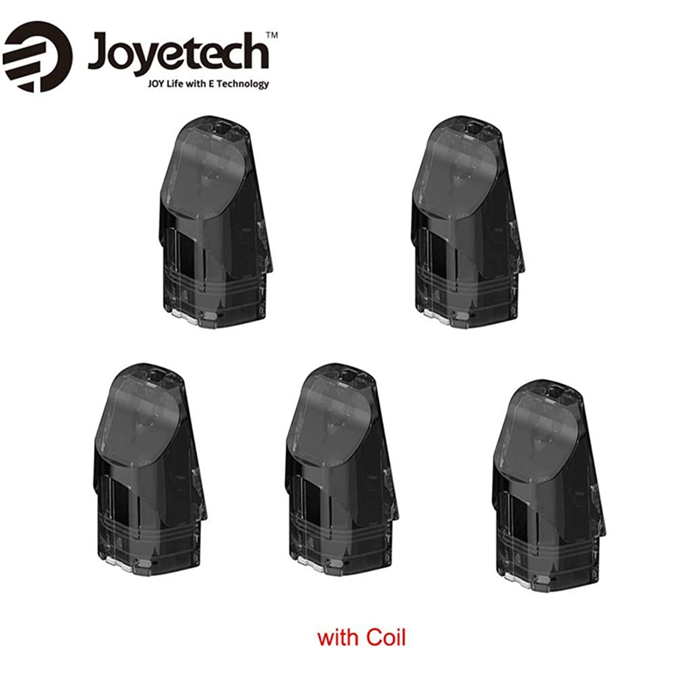 二度フクロウテクニカル正規品Joyetech Exceed Edge Podカートリッジ 2ml 内蔵1.2ohmコイル 5個セット 1パック