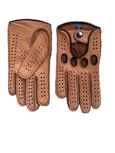 Hungant Herren Peccary Autofahrer Handschuhe Farbe Cork (8, Cork)