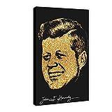 Celebrity Vintage Poster John F Kennedy Leinwand Poster
