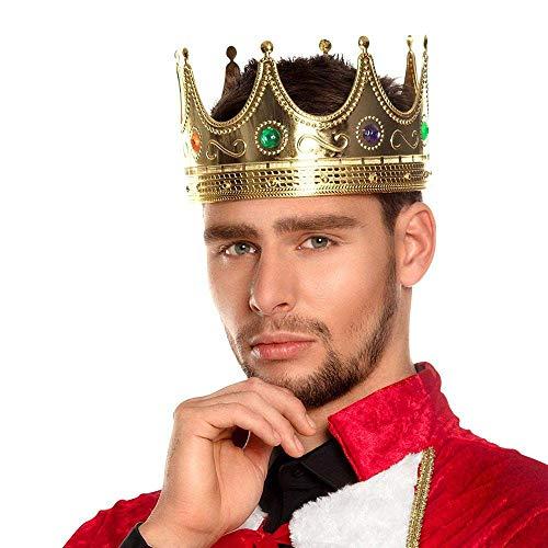Boland Chapeau Roi Couronne pour Homme Déguisement Nativité Médiéval Livre Jour Adulte Accessoire de Costume.