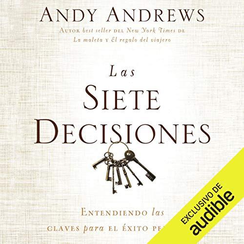 Diseño de la portada del título Las siete decisiones