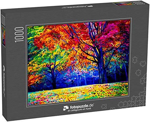 Puzzle 1000 Teile Ölbild auf Leinwand. Herbstbaum. Moderne Kunst - Klassische Puzzle, 1000 / 200 / 2000 Teile, edle Motiv-Schachtel, Fotopuzzle-Kollektion 'Kunst'