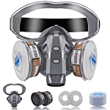 Facemoon Respirator Mask Kit,Semimaschera Respiratori,Maschera Riutilizzabile Anti Gas,Vapori e Particella per Verniciatura a Spruzzo,Levigatura, Polvere