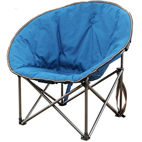 GWM Tragbare Klappstuhl Camping Stuhl Moon Chair, for Indoor & Outdoo, Blau (Size : L)