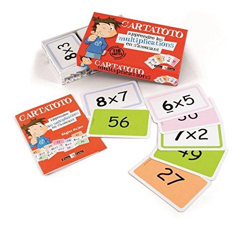 Cayro - Cartatoto Multiplications - Jeu éducatif pour Enfants - Développement des compétences mathématiques - Jeu de Cartes (410010)