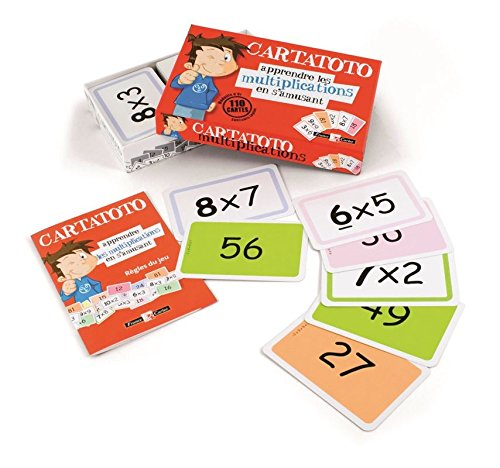 Cayro - Cartatoto Multiplicaciones - Juego Educativo Infantil - Desarrollo de Habilidades matemáticas - Juego de Cartas (410010)