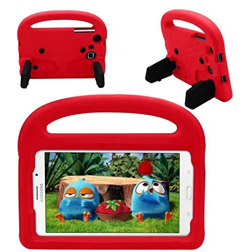 QYiD Funda para Galaxy Tab 3/Tab 4 7.0 Pulgadas Case, Funda Protectora a Prueba de Golpes con Mango Ligero, Carcasa para niño para Galaxy Tab 4 7.0' T230 T235 / Tab 3 7.0' P3200 P3210, Rojo