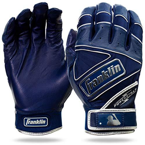 Franklin Sports Chrome Powerstrap, Chrome PowerstrapTM Batting Gloves - Navy - Adult Large, Chrome Navy, Adulto X-Large