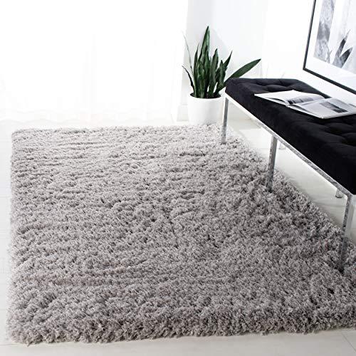Safavieh Polar Shag Collection PSG800D Area Rug, 6'7' x 9'2', Silver