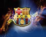 Canvas canvas35Barcelona F.C.–Balón de fútbol A1tamaño Brillante Póster de 33x 24Inch, Lona, Multicolor, 62x 0,5x 92cm