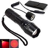 Taschenlampe für nächtliche Beobachtungen, mit grünem und rotem Licht, mit Zoomfunktion