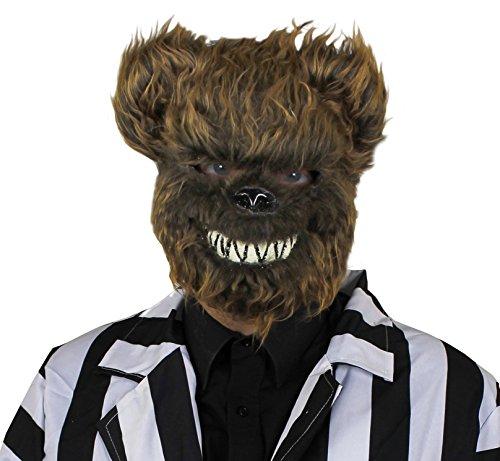 ILOVEFANCYDRESS Un Masque Marron de tête d'ours térrifiant. Idéal pour Les fêtes d'halloween.