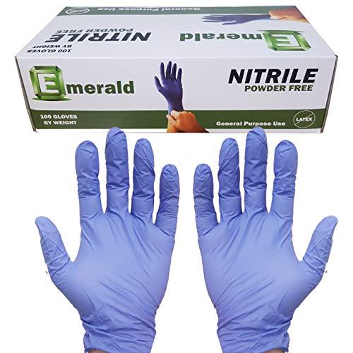 Emerald Nitrile Gloves Powder Free 6652 G 100