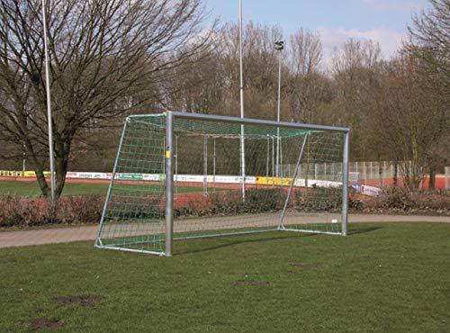 W&H Fußballtor - mobiles Jugendtor - 5,00 x 2,00 m - mit Stahlauslage - inkl. Netz, untere Tortiefe/Auslage:2.00m
