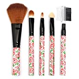 Delighted 5pcs Makeup Brushes Kit Set Eyeshadow Blush Eyebrow Lip Cosmetic Tools Beauty - Leopard