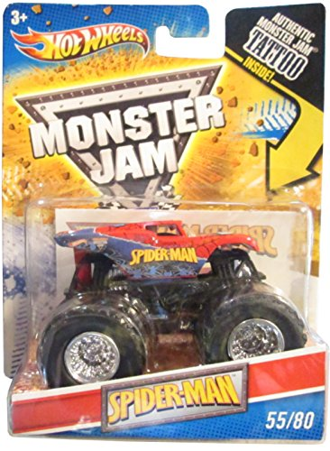 Hot Wheels Spiderman Monster Jam Truck Tattoo Series 1:64 Scale #55/80 by Hot Wheels