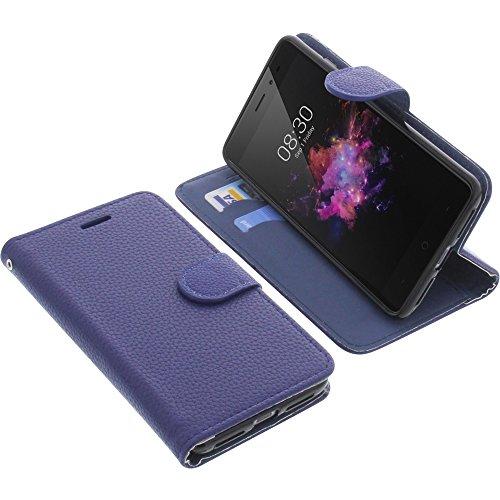 foto-kontor Tasche für TP-Link Neffos X1 Book Style blau Schutz Hülle Buch