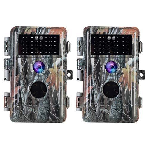 [Actualizado] 2X Cámara de Caza 1920x1080 Pixel Video 20MP Foto, Sensor de Movimiento Activado a Prueba de Agua IP66 con Visión Nocturna 36pcs IR LED de hasta 70 pies, 2.31' LCD