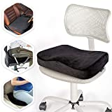 Aeris Memory Foam Seat Cushion for Office Chairs-Car Seat Cushion for Sciatica Pain-Carry Handle- Washable Soft Velour Cover-Great for Sitting Long Hours & Driving-Perfect for Truck Seats,Wheelchairs