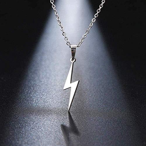 ZHIFUBA Co.,Ltd Collar de Acero Inoxidable Collar de Trueno Caliente Colgante de protección para Mujer Regalo de Novia Collar de joyería de Oro Rosa Regalo