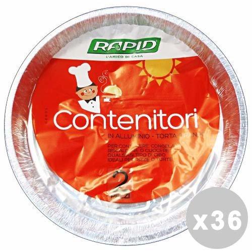 Mister Pack Set 36 Contenitore Alluminio Torte X 3 Pezzi T59G Contenitori per la Cucina