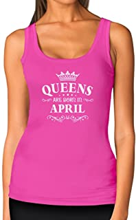 0a315b4d TeeStars - Birthday Gift for Women - Queens are Born in April Women Tank Top