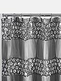 Popular Bath 231014 Duschvorhang, Kollektion Sinatra, Silber