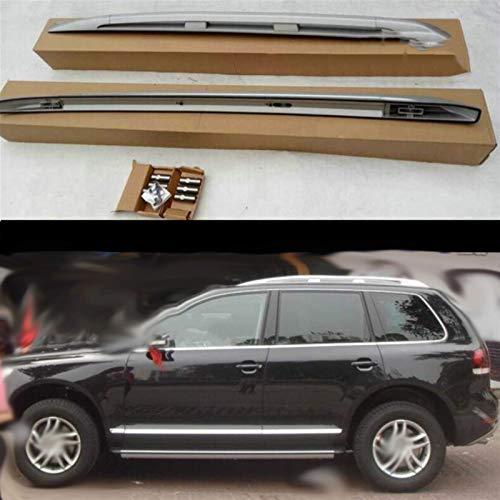 YIJIAREN Personalizado Barras Laterales De Rieles De Techo para Volkswagen Touareg 2003-2010 Aleación De Aluminio Rieles Cruzados Barra Transversal