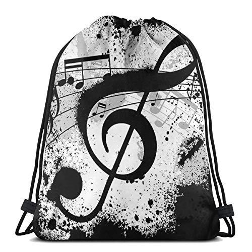 Bolsa de almacenamiento de notas musicales con cordón, lavable, a prueba de polvo, transpirable, no transparente, para viajes, deportes, gimnasio, para hombres y mujeres
