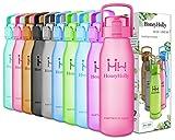 HoneyHolly Botella de Agua Acero Inoxidable 350/500/650/750ml, Aislamiento de Vacío...