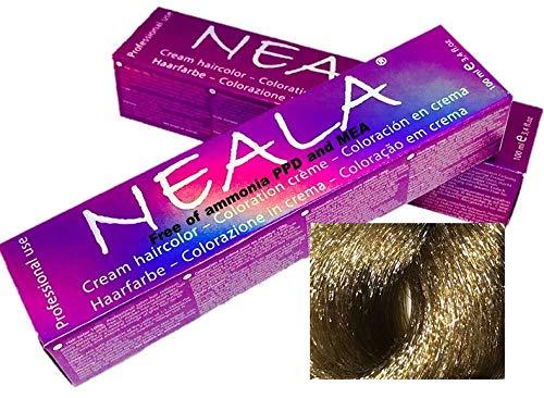 Professionele kleuring haarkleur zonder ammoniak en vrij van PPD en MEA - 9 - Zeer licht natuurlijk blond - NEALA 100 ml.