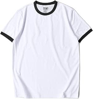 white shirt black trim mens