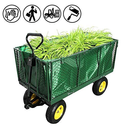 Froadp Bollerwagen Herausnehmbare Plane Transportwagen Vielseitig Einsetzbar Handwagen Gerätewagen Belastbar bis 500kg für Pflanzen Obst Waren