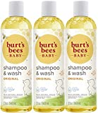 Burt's Bees Baby Bee Shampoo & Wash, 12 Fluid Ounces (Pack of 3)