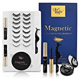 10-Pairs Magnetic Eyelashes Kit With Mirror Case And Magnetic Eyeliner 3D different Lengths&Densities Magnetic lashes For Use With Magnetic Eyeliner False Lashes Natural Look-No Glue Needed
