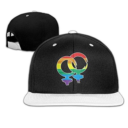 GJdd_diy Adjustable Trucker Hats Gay Symbol Unisex Baseball Cap Hip-Hop Snapback White