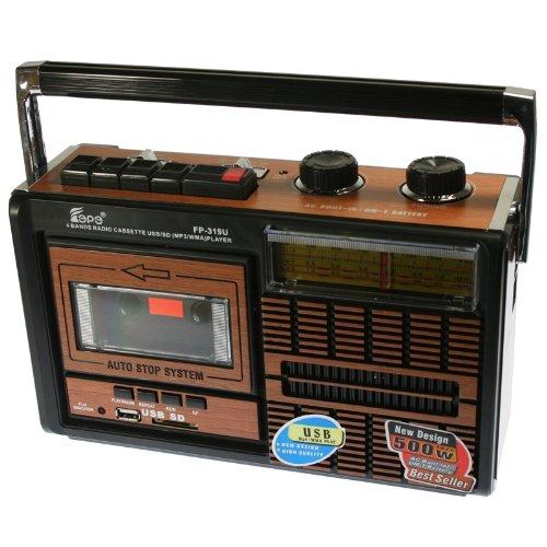 Radio Cassette con conexión USB y tarjetas SD. FEPE FP-319U