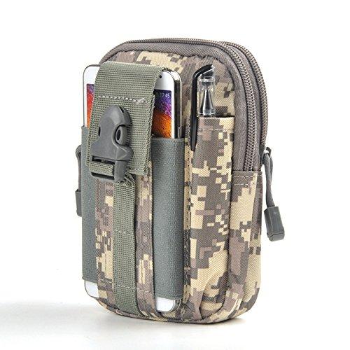 Qind Tactical Molle D30Taille Taschen Pouch Mehrzweck Compact EDC Utility Gadget Gürtel Wasserdichte Herren Outdoor Sport Casual Taille Pack Army Military Kleine Taschen Gear, Organizer, ACP