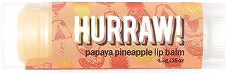 Hurraw Papaya Pineapple Lip Balm 4.3g, 4.3 grams