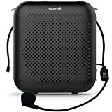 NORWII S358 Portable 2000mAH Rechargeable Voice Amplifier with Wired Microphone Headset & Waistband, Personal Microphone and Speaker for Teachers Tour Guides ect (Black)
