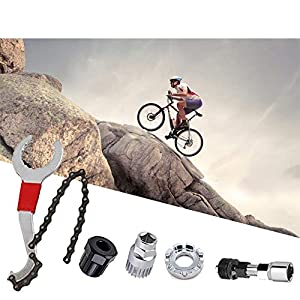 Herramienta de eliminación de casetes de bicicleta ,Remover de Cadena ,Kits de Herramientas de reparacion de Bicicleta y Bicicletas de montaña,Cortador de Cadena de Bicicleta