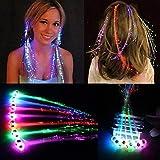 30 Pack LED Lights Hair Light-Up Fiber Optic...