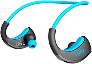 MYXMY Wireless Headphones Bluetooth, IPX5 Waterproof Running Headphones in-Ear Earbuds for Gym Cycling Workout Built-in No...