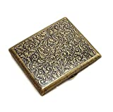 Shuny Cigarette étui à Cigarettes en métal Vintage,Étui à Cigarettes en métal,Cigarettes Antique avec Gravure,Aspect...