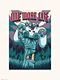Grupo Erik Lámina Decorativa, Gamer One More Life, 30 x 40 cm