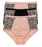 Glus® Women's Organic Cotton Plus Size Hipster (Multicolor, 3XL)