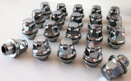 Set de 20tuercas para llantas de aleación, con rosca de M12x 1,5, soporte de asiento, 21mm hexagonal para Toyota